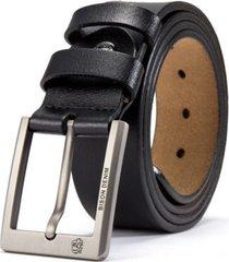cinturón hombre vintage bison hebilla cuadrada 125cm 1223 negro