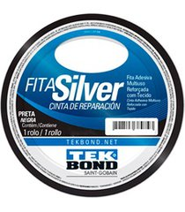 fita silver tape 48mm com 5 metros preta