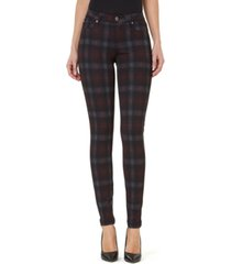 numero plaid mid-rise skinny jeans
