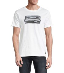wesc men's max wasted youth t-shirt - white - size l
