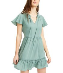 bcx juniors' flutter-sleeve fit & flare dress
