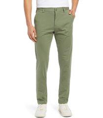 men's rhone commuter slim fit pants, size 28 - green