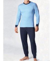 stanfield's men's 2 piece cotton blend polo pajama