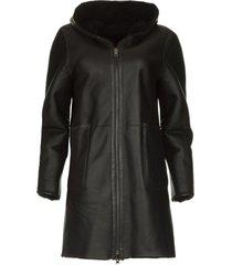 omkeerbare lammy coat wasson  zwart