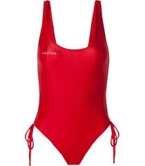 body rosa chá giovanna red beachwear vermelho feminino (barbados cherry, gg)