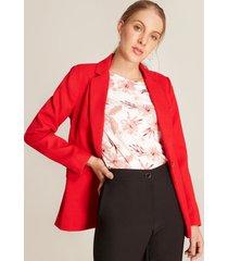 blazer acanalado rojo 16