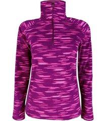blusa columbia feminino glacial fleece iii print 1/2 zip