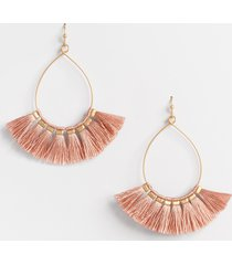 maurices womens gold blush fringe teardrop earrings