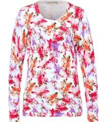 vest met lange mouwen en bloemenprint van uta raasch multicolour