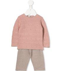 cashmirino knitted tracksuit set - pink