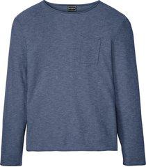 maglione basic moderno con taschino e orli arrotolati (blu) - rainbow