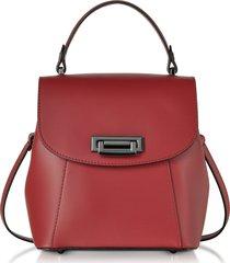 gisèle 39 designer handbags, venus leather convertible satchel/backpack