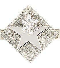 square crystal pavé star deco hair clip