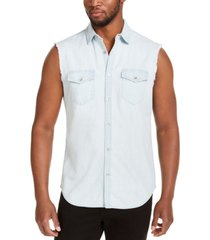 inc men's cut off denim shirt, created for macy's