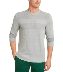 club room men's cotton solid textured crew neck sweater, created for macy's