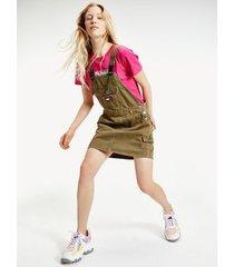 tommy hilfiger women's overall dress olive tree - xxs