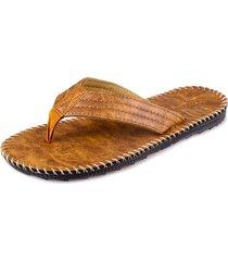sandalias antideslizantes con flip-flop de cuero sintético de imitación