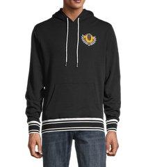 true religion men's collegiate logo hoodie - heather grey - size l