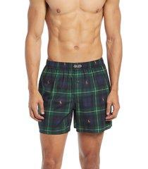 men's polo ralph lauren woven cotton boxers, size x-large - blue