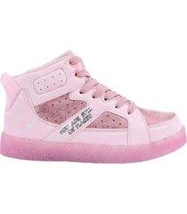 zapatilla rosa footy bota de gamuza