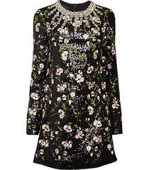 embellished floral dress