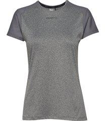 adv essence ss slim tee w t-shirts & tops short-sleeved grå craft