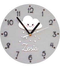 zegar dla dziecka z chmurką personalizowany
