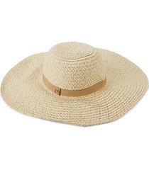 calvin klein women's wide-brim straw hat - natural