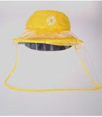gorro con protector facial niños negro/amarillo via franca