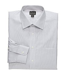 traveler collection tailored fit spread collar mini stripe dress shirt, by jos. a. bank