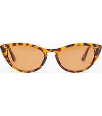 womens savannah ooh na-na leopard cat-eye sunglasses - brown