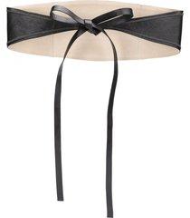 brunello cucinelli bead-embellished waist belt - black