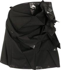 132 5. issey miyake pleated mini skirt - black