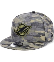 new era men's miami dolphins worn camo 9fifty cap