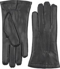 men's hestra leather gloves, size 7.5 - black