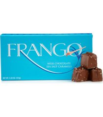 frango chocolates, 1/3 lb milk sea salt caramel box of chocolates