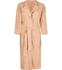 drome slouchy trench coat - neutrals