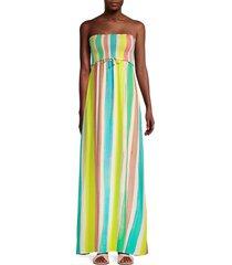 pq women's angele smocked dress - high tide - size xs/s