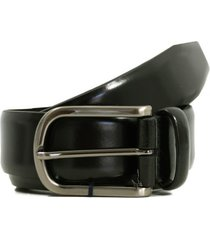 anderson's belts plain leather belt | black | pl262-blk