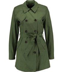 only groene 3/4 gevoerde trenchcoat zomerjas - valt 1 maat kleiner