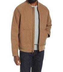 men's pendleton men's pinehurst water repellent zip-up baseball jacket, size xx-large - brown