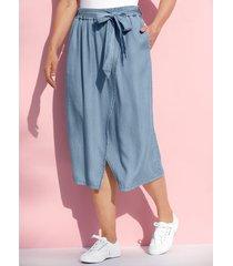 kjol miamoda blue bleached
