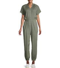 bb dakota women's short-sleeve jumpsuit - sage - size xs