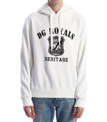 dolce & gabbana sweatshirt dg royals white