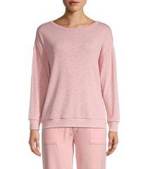 honeydew intimates women's back-cutout sweatshirt - stardust - size s