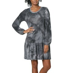 ultra flirt juniors' tie-dye drop-waist dress