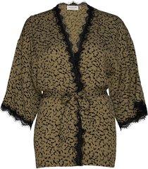 jacket 3/4 s kimonos bruin rosemunde