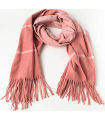 amelia blush plaid scarf - blush