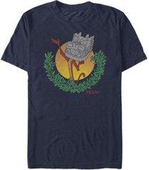 fifth sun men's stone dragon short sleeve crew t-shirt