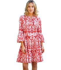 jurk amy vermont wit::rood
